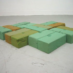 "Bricklayer, Flora Foam dimensions variable 28""x22""x3"" 2011"