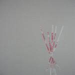 """CandyGirls9 Reverse, Glycene, glue, paper.11""""x8.5"""" 2010"""