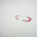 "Boat, Aluminum-lined paper, glue, paper. 13""x9.5"" 2010"