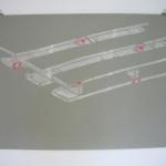 """Palette, Glycene paper, paper, glue 27.5""""x39"""" 2010"""