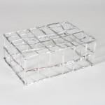 """Foilcrate,  Aluminum-lined paper, steel, glue 8""""x 16""""x 12""""  2011"""
