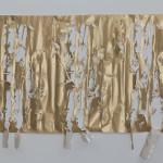 """Wall4, Handcut paper, contact paper 40""""x71"""" 2014"""